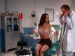 Doctor, Teacher, Exam, Female doctor small cock, Drtuber.com