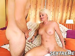 Anal, Blonde, Blonde granny monster, Nuvid.com