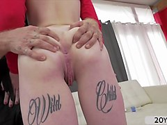 Babe, Tattoo, Teen girl fucked hardly by mature dick, Gotporn.com