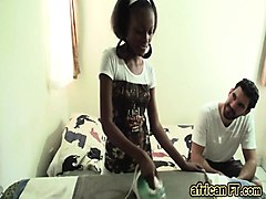 African, Amateur, Babe, Busty interracial babe gets cumshots, Nuvid.com