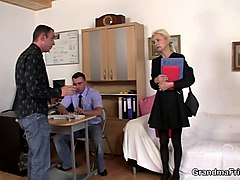 Blonde, Russian granny and boy, Gotporn.com