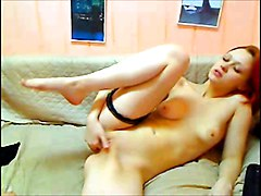 Redhead, Nikita shows off her very nice bald pussy, Xhamster.com