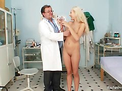 Blonde, Gyno, Babe, Gyno exam for electro therapy, Xhamster.com
