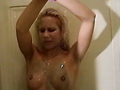Smoking, Shower, Latina smoking, Xhamster.com