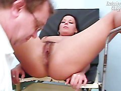 Hairy, Gyno, Teen, Gina gets a lesbian full gyno exam and squirting, Xhamster.com