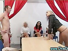 Group, Office, Femdom, Group femdom facesitting tied male, Pornhub.com