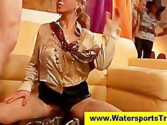 Ffm, Fetish, Clothed, Watersports fetish slut fucked and piss drenched, Pornhub.com