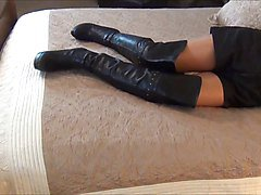 Boots, Slave, Brown leather boots, Xhamster.com