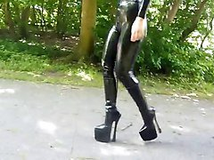 Boots, Latex, Heels, Mature ffm latex, Xhamster.com