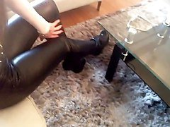 Boots, Leather, Heels, Blonde boots, Xhamster.com