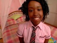 Ebony, Cute, Cute petite tgirl with big huge cock, Xhamster.com