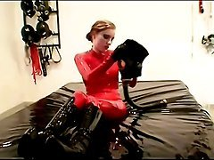 Rubber, Chick fucking babe on a big rubber cock, Xhamster.com