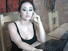 Instruction, Office, Masturbation, Instruction on webcam, Xhamster.com