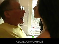 Grandpa, Kitchen, Brothersister and grandpa, Pornhub.com