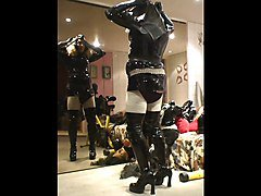 Rubber, Mask, Maid, Rubber pierced, Xhamster.com