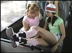 Bus, Feet, Lesbian, Japanese bus flashers, Xhamster.com