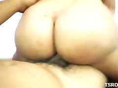 Brazil, Shemale, Brazilian shemale babe strips down and jerks off, Pornhub.com