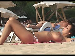 Beach, Spanish, Spanish girl, Xhamster.com