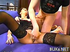 Maid, Mature red stockings dp big tits brunette maid, Fapli.com