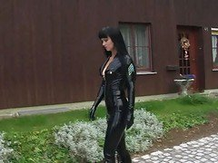 Latex, Uniform, Strap on latex lesbians, Xhamster.com