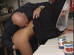 Nun, Old Man, Nun and priest, Xhamster.com
