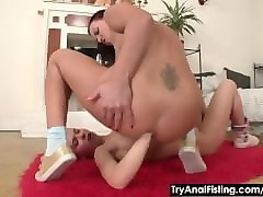Anal, Double Anal, Lesbian, Double anal toying, Pornhub.com