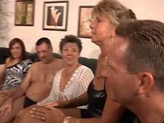 Granny, Orgy, Party, French group orgy, Xhamster.com