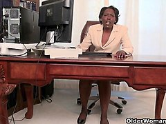 Granny, Office, Strip, Hairy granny anal, Xhamster.com