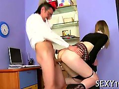 Lesbian student anally punished by teacher, Fapli.com
