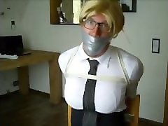 Blonde, Ass, Gagging, Tied gang, Pornhub.com