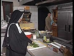 Nun, Kitchen, German, Mother drinking piss, Xhamster.com