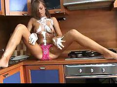 Kitchen, Wet, Teen, Tube8.com