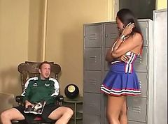 Ebony, Cheerleader, Creampie, The cheerleaders, Xhamster.com