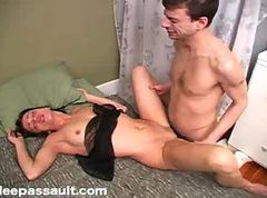 Teen, Sleeping, Husband sleeping, Tube8.com