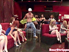 Party, Girlfriend, Strip, Wife backstage sex with stripper, Gotporn.com