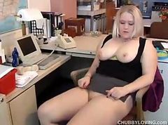 Amateur, Blonde, Chubby, Office russian, Drtuber.com