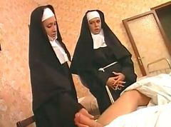 Nun, Two boys and a nun, Drtuber.com