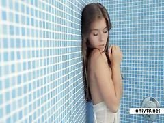 Teen, Solo, Shower, Driking teen, Drtuber.com