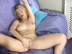 Blonde, Teen, Toys, Huge toy, Tube8.com