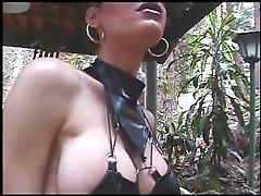 Black, Leather, Shemale, Facial shemale, Tube8.com