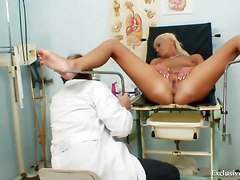 Blonde, Doctor, Gyno, White mature lady doctor c e o hires a film crew, Xhamster.com