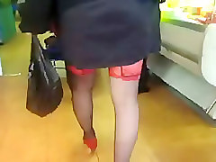 Black, Stockings, Solo stockings, Voyeurhit.com