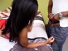 Ebony, Creampie, Ebony double blowjob, Txxx.com