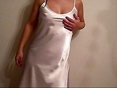 Satin, Dress, Dress like a whore, Xhamster.com