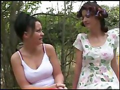 Two mature women seduce girl, Tube8.com