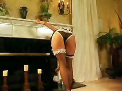 Bus, Stockings, Maid, Real life boy masturbates in front of maid, Tube8.com