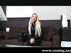 Blonde, Casting, Shy, Brianna gets fucked on the casting couch, Redtube.com