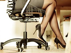 Office, Heels, Black angelica office anal, Xhamster.com