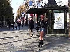 Boots, Babe, Public, Satin heel, Xhamster.com