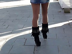 Boots, Babe, Public, Asian boots, Xhamster.com